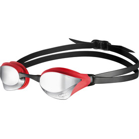 arena Cobra Core Mirror Goggles silver-red-black